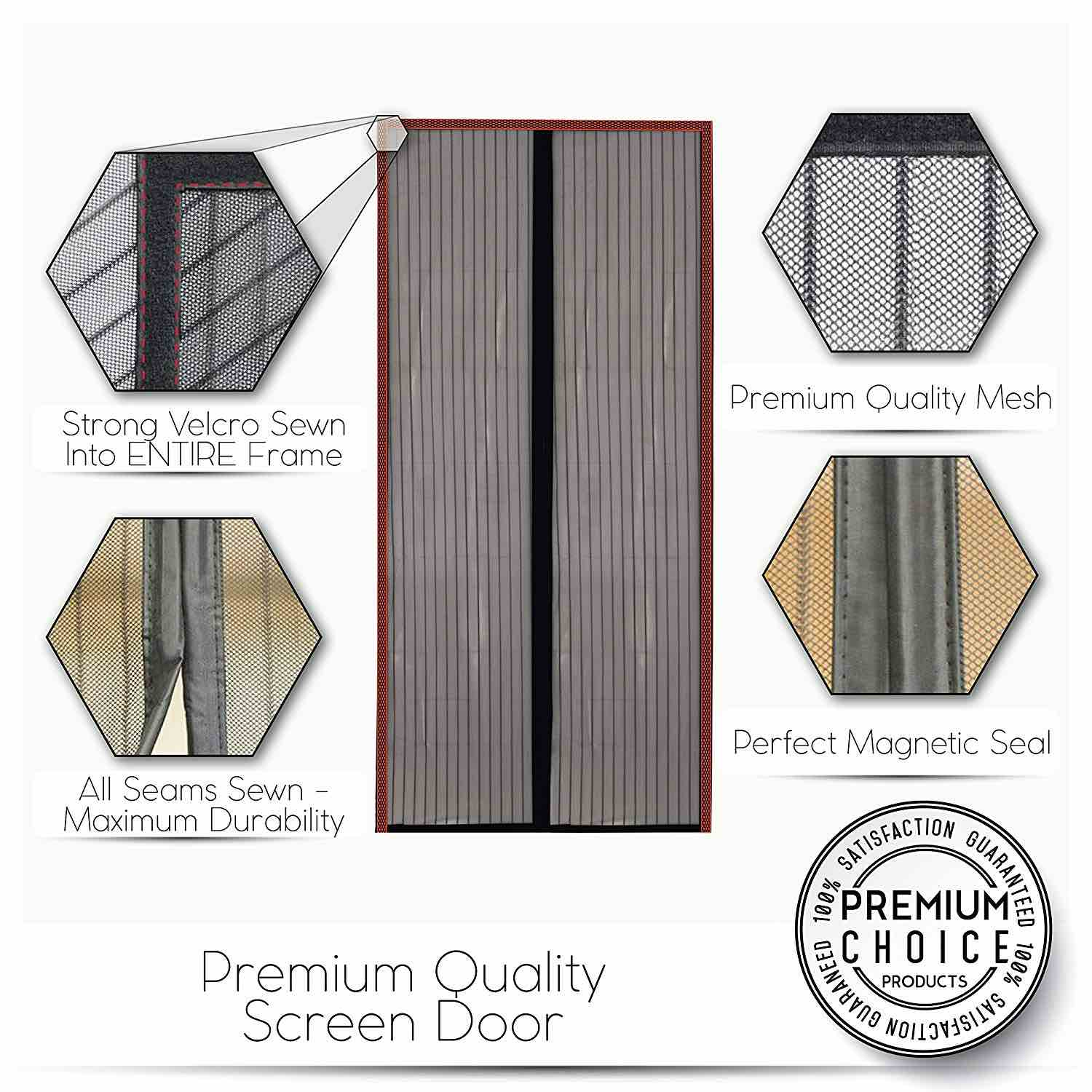 Buckland magnetic fly screen door curtain